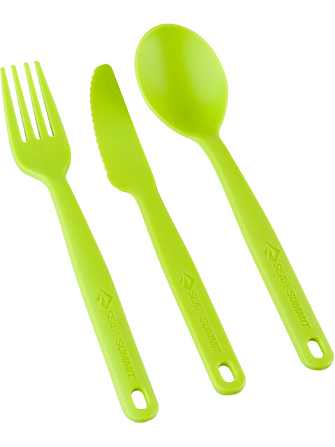 Sea to Summit Camp Cutlery Set 3 Pieces Lime